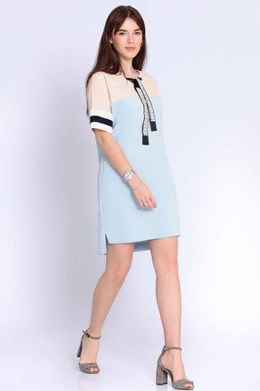 Фото - Платье Джерси 1799 голубой голубого цвета