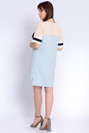Фото 2 - Платье Джерси 1799 голубой голубого цвета