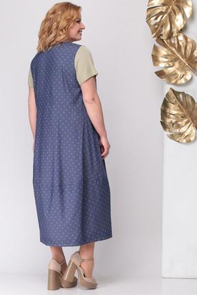 Фото 2 - Платье Michel Chic 931 синий с бежевым цвет синий с бежевым