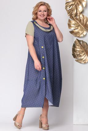 Фото - Платье Michel Chic 931 синий с бежевым цвет синий с бежевым
