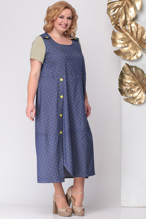 Фото 3 - Платье Michel Chic 931 синий с бежевым цвет синий с бежевым