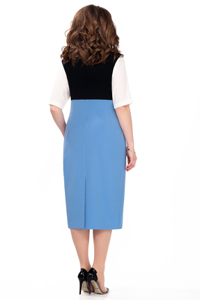 Фото 2 - Платье TEZA 179 светло синий цвет светло синий