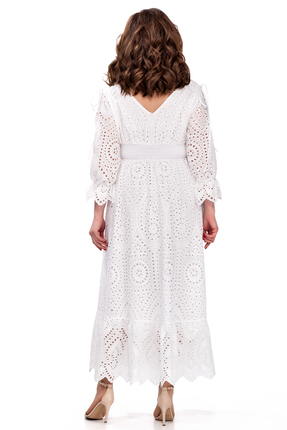 Фото 2 - Платье TEZA 182 молочный молочного цвета