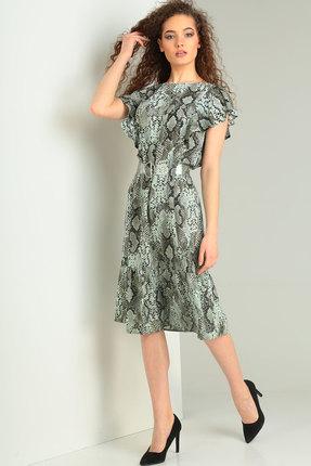 Фото - Платье Ришелье 714 зелёный цвет зелёный