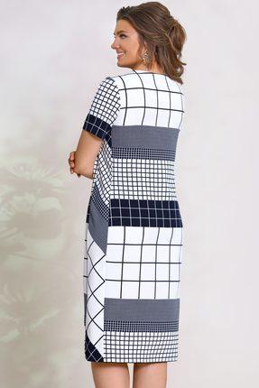 Фото 2 - Платье Vittoria Queen 8433 синий с белым цвет синий с белым