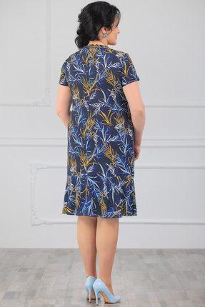 Фото 2 - Платье Мадам Рита 5017 синий синего цвета
