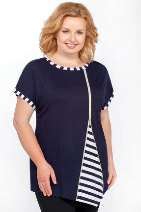 женская блузка медея и к, синяя