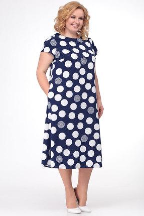 Фото - Платье KetisBel 1458 синий с белым цвет синий с белым