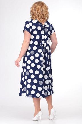 Фото 3 - Платье KetisBel 1458 синий с белым цвет синий с белым