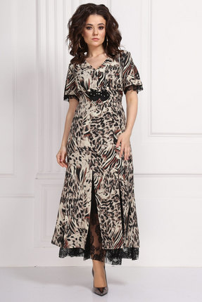 Платье Solomeya Lux 579 темные тона