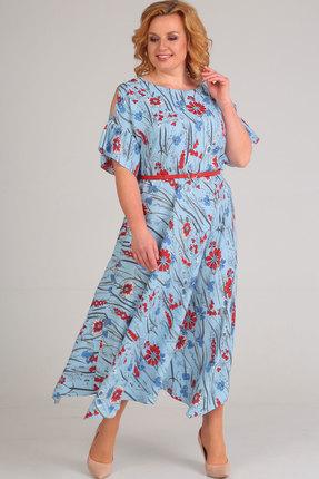 Фото - Платье Elga 01-609 голубой голубого цвета