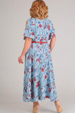 Фото 2 - Платье Elga 01-609 голубой голубого цвета