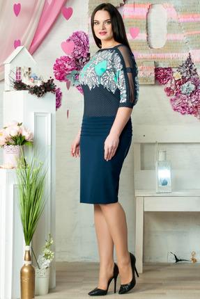 Фото 2 - Платье Moda-Versal 1595 синий синего цвета