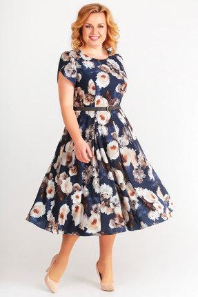 Фото 2 - Платье SWALLOW 169 синий синего цвета