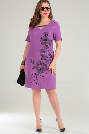 Фото - Платье Viola Style 0859 сиреневый сиреневого цвета