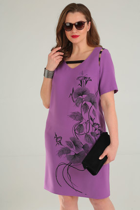 Фото 2 - Платье Viola Style 0859 сиреневый сиреневого цвета