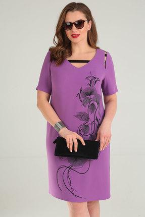 Фото 3 - Платье Viola Style 0859 сиреневый сиреневого цвета