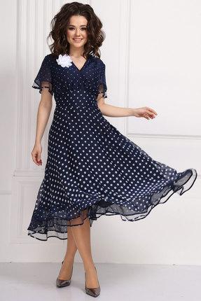 Платье Solomeya Lux 566-1 синий в горохи