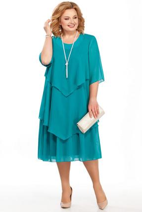 Фото - Платье Pretty 347 бирюзовые тона цвет бирюзовые тона