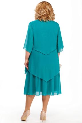 Фото 2 - Платье Pretty 347 бирюзовые тона цвет бирюзовые тона