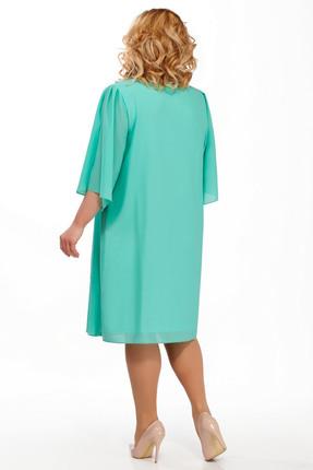 Фото 2 - Платье Pretty 805 бирюзовые тона цвет бирюзовые тона