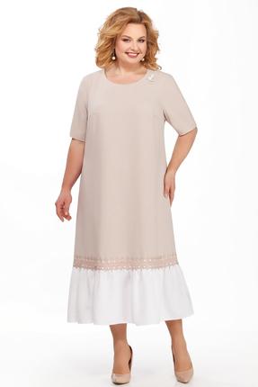 Фото - Платье Pretty 869 бежевые тона цвет бежевые тона