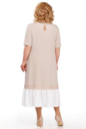 Фото 2 - Платье Pretty 869 бежевые тона цвет бежевые тона
