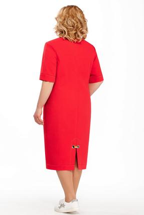 Фото 2 - Платье Pretty 876 красный красного цвета