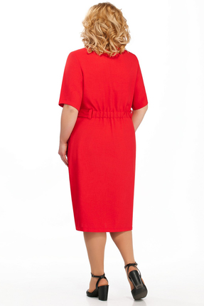 Фото 2 - Платье Pretty 882 красный красного цвета