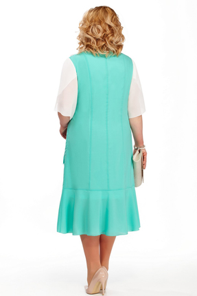 Фото 2 - Платье Pretty 885 бирюзовые тона цвет бирюзовые тона
