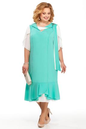 Фото - Платье Pretty 885 бирюзовые тона цвет бирюзовые тона
