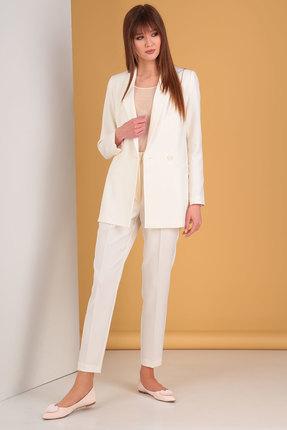 Комплект брючный Denissa Fashion 1207 молочно-бежевый
