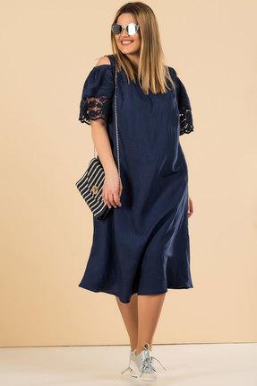 Купить Платье Deesses Р-052.2 темно-синий, Повседневные платья, Р-052.2, темно-синий, Вискоза 63%, ПЭ 34%, спандекс 3%., Лето
