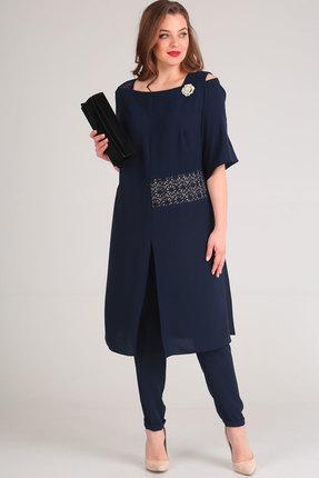 Фото - Комплект брючный Viola Style 20528 синий синего цвета