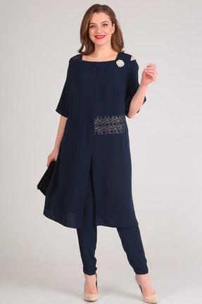 Фото 3 - Комплект брючный Viola Style 20528 синий синего цвета