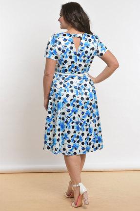 Фото 2 - Платье Lady Style Classic 1813 белый с голубым цвет белый с голубым