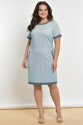 Фото - Платье Lady Style Classic 1427-2 голубой голубого цвета