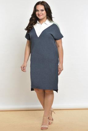 Фото - Платье Lady Style Classic 1576 серо-синий серо-синего цвета