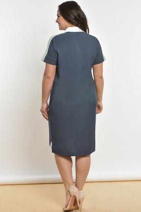 Фото 2 - Платье Lady Style Classic 1576 серо-синий серо-синего цвета