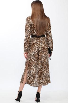 Фото 2 - Платье Lady Secret 3598 леопардовый цвет леопардовый