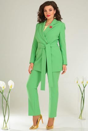 Фото - Комплект брючный Мода-Юрс 2369-2 зеленый зеленого цвета