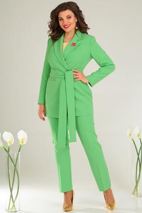 Фото 2 - Комплект брючный Мода-Юрс 2369-2 зеленый зеленого цвета