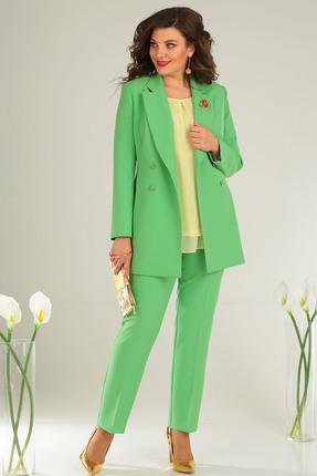 Фото 3 - Комплект брючный Мода-Юрс 2369-2 зеленый зеленого цвета