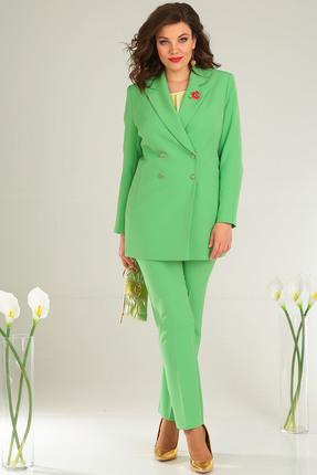 Фото 5 - Комплект брючный Мода-Юрс 2369-2 зеленый зеленого цвета