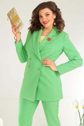 Фото 6 - Комплект брючный Мода-Юрс 2369-2 зеленый зеленого цвета