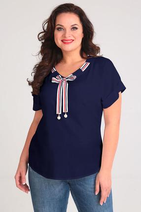женская блузка таир-гранд, синяя
