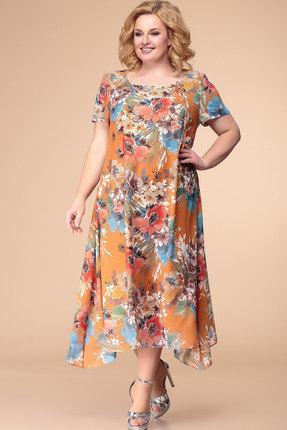Фото - Платье Romanovich style 1-1332 терракот с цветным цвет терракот с цветным