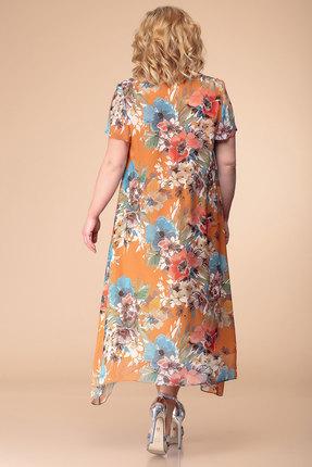 Фото 2 - Платье Romanovich style 1-1332 терракот с цветным цвет терракот с цветным