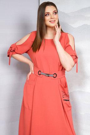 Фото 2 - Платье Olegran о-674 терракот цвет терракот