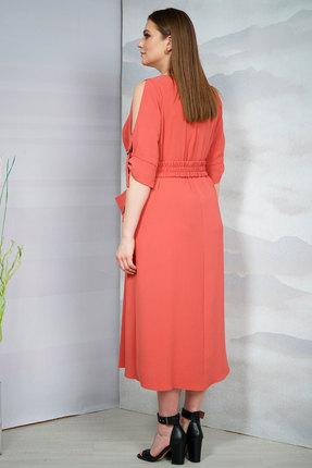 Фото 3 - Платье Olegran о-674 терракот цвет терракот